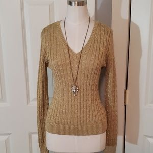 RALPH LAUREN Gold Sweater
